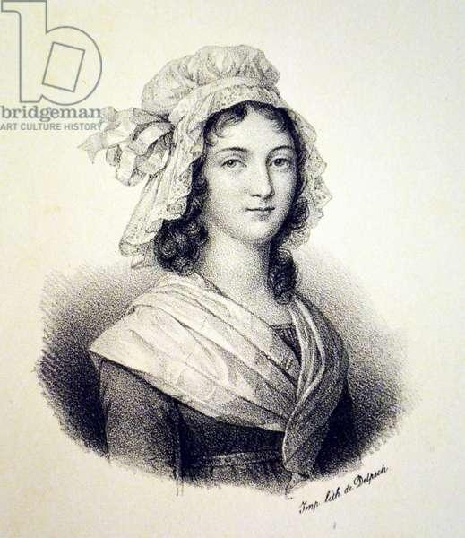 Charlotte Corday, 1840 (litho)