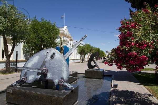 Modern Sculptures on Avenida Mariano Moreno, Rawson, Chubut, Argentina (photo)