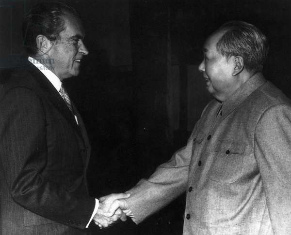 Richard Nixon meets Chinese Communist Party leader Chairman Mao Zedong, 1972