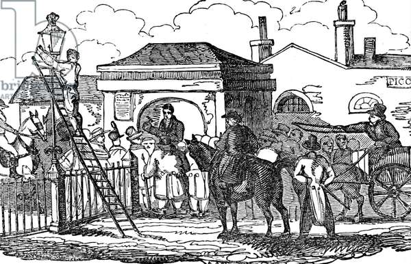 A Toll-house and Toll-gate at Hyde Park Corner, 1850