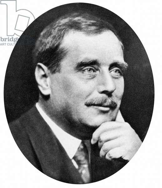 Herbert George Wells (1865-1946) British novelist, writer and popular historian. HG Wells c1925.