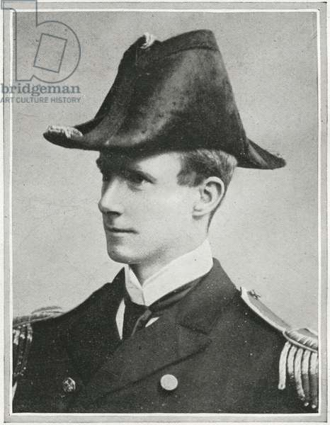 Captain Arthur Henry Rostron, detail of Passengers on the RMS Titanic, from 'The Sphere', 27 April 1912 (litho) (see also 450780)