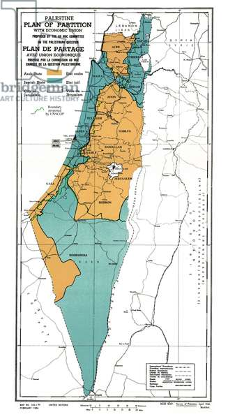 United Nations plan for the partition of Palestine, 1947