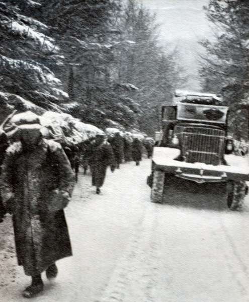 World war Two: French reinforcements arrive in the Vosges region