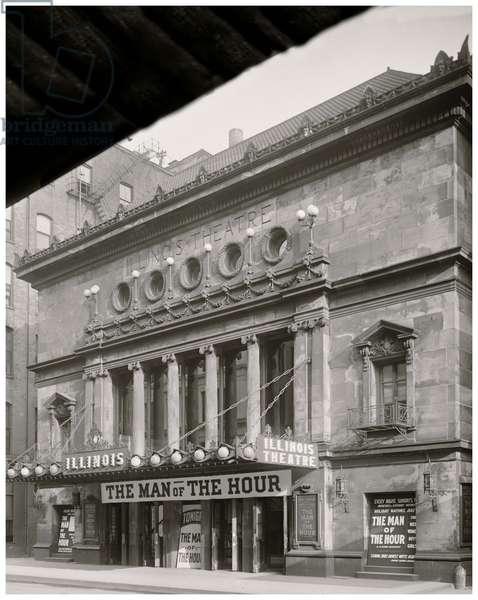 Chicago, Illinois, Illinois Theatre (b/w photo)