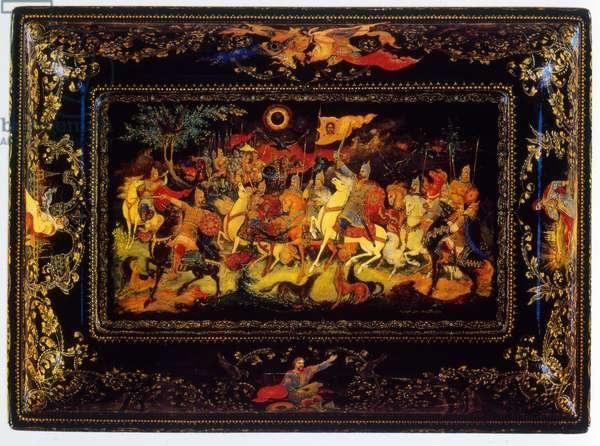 A Russian 'Palekh' lacquered box