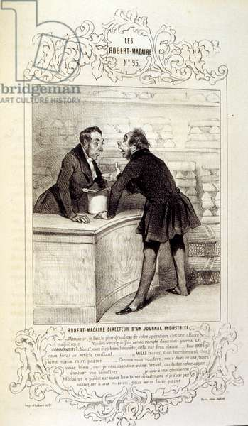 Illustration of by Honore Daumier, about ideas and legends Philipon