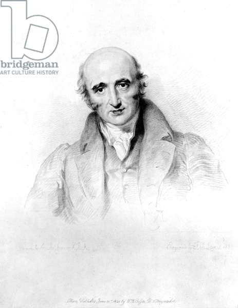 William Hyde Wollaston, English chemist and metallurgist, c 1820s Engraving by Lewis after a painting by Sir Thomas Lawrence (1769-1830) of William Hyde Wollaston (1766-1828), English chemist and metallurgist