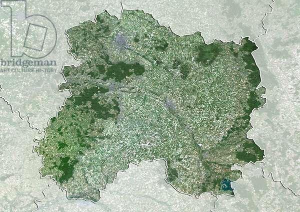 Departement of Marne, France, True Colour Satellite Image