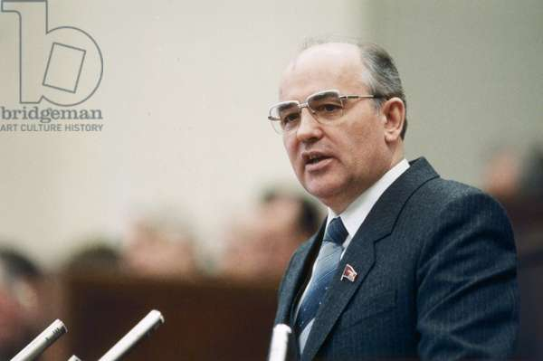 Mikhail Gorbachev, General Secretary of the Russian Communist Party, Speaking in 1985.