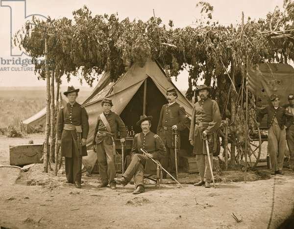 Arlington, Va. Officers of Company F, 2d New York Artillery at Fort C.F. Smith 1865 (photo)