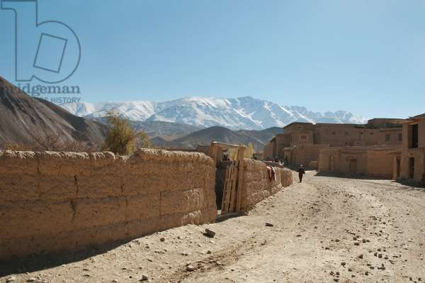 Mud Wall in Shekh Ali, Parwan Province, Afghanistan (photo)