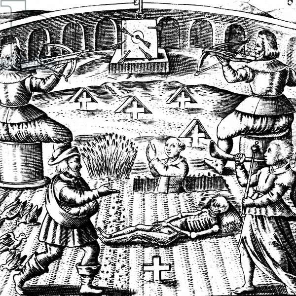 The Eighth Key of Basil Valentine, from 'Von dem grossen Stein Uhralten' by Basil Valentine, Strasbourg, 1651 (engraving)