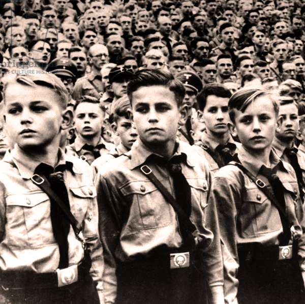Hitler Youth parade circa 1936
