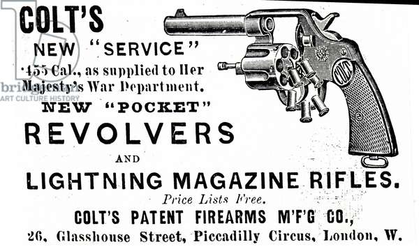 Advertisement for a Colt's Revolver