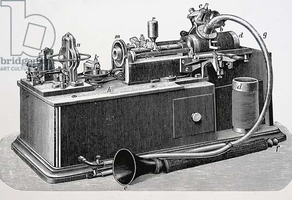 New motorised, Edison Phonograph, 1885