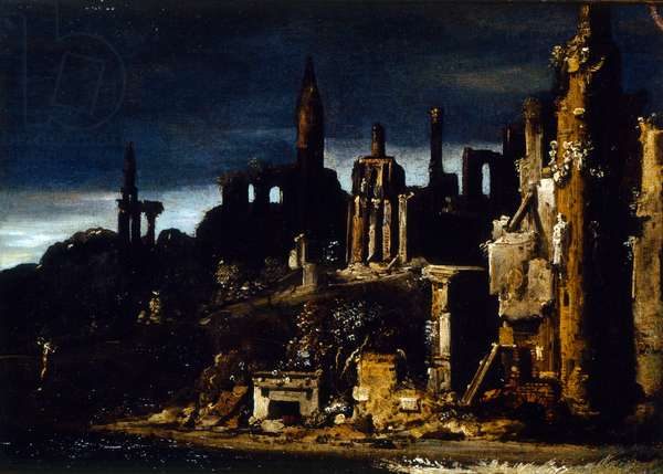 Town in ruins
