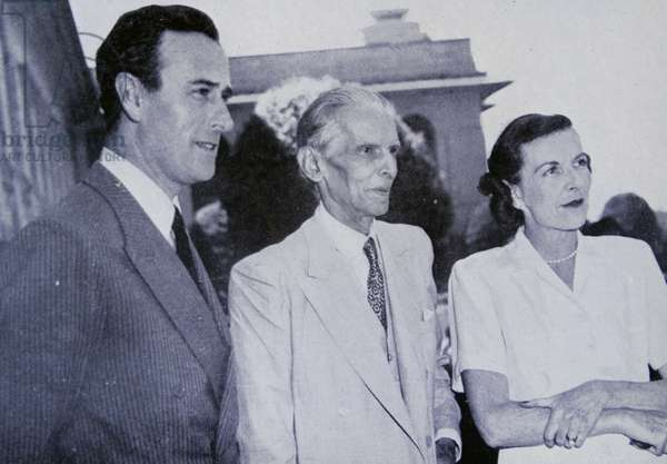 Muhammad Ali Jinnah, meets the Viceroy Lord Mountbatten 1947