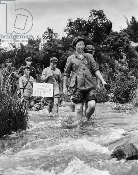 A Medical Team (Barefoot Doctors) Led by Communist Party Member Ma Yi is Active in the Wuchih Mountains Area