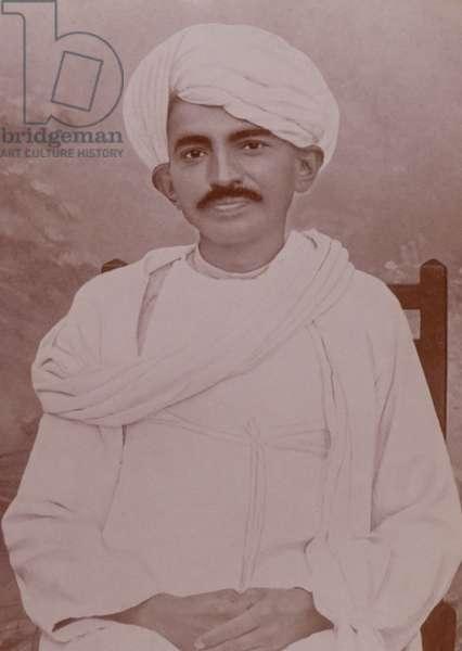 Mohandas Karamchand Gandhi on his return to India 1915