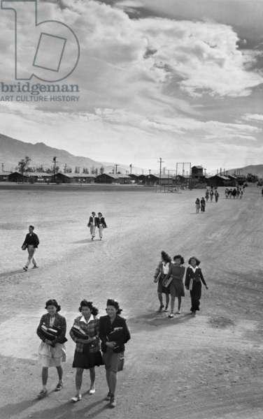 School children, Manzanar Relocation Center, California, 1943 (photo)