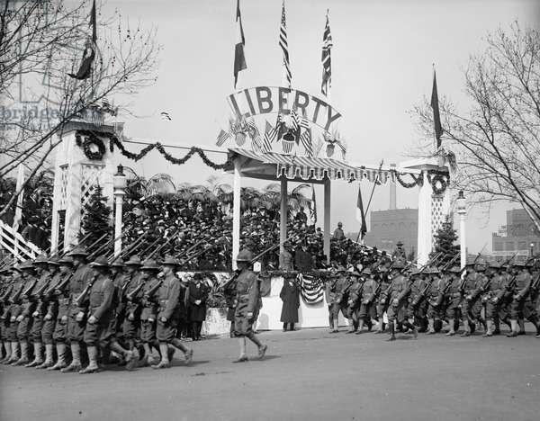 Liberty Loan Parade (b/w photo)