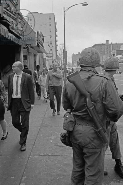 Soldiers Patrolling the streets of Washington, 1968