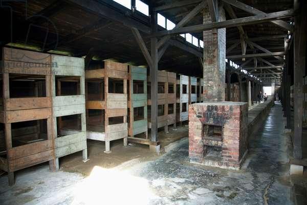 Interior of One of the Medical Barracks, Auschwitz-Birkenau Concentration Camp, Oswiecim, Malopolska, Poland (photo)