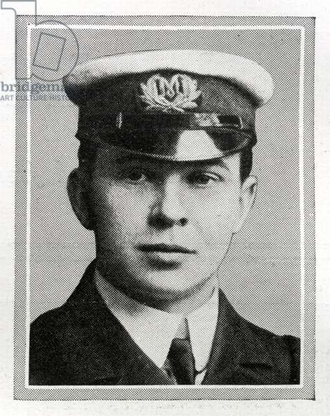 John George 'Jack' Phillips  Wireless Operator on Titanic. Jack Philips was born in Farncombe, Surrey, on 11th April 1887.  Phillips was educated locally and, after learning telegraphy, at a post office, he began working for the Marconi company. He was serving as senior wireless operator on board Titanic, which sank on 15th April 1912.  As Titanic was sinking, Phillips worked tirelessly to send wireless messages to nearby ships for help. While Phillips has borne criticism for having told the radio operator of the Californian 'Shut up! I am busy, I am working Cape Race!' when interrupted on-air by his counterpart telling him that his ship was surrounded by ice, similar warning messages earlier that day had been delivered to the captain and a lookout had been posted. He did not survive.  Titanic was built by Harland & Wolff in Belfast Ireland during 1910 - 1911, and sank after striking an iceberg off the coast of New Foundland during her maiden voyage from Southampton, England to New York, USA, with the loss of 1,522 passengers and crew. (Photo by Titanic Images/Universal Images Group) Photographie ©UIG/Leemage