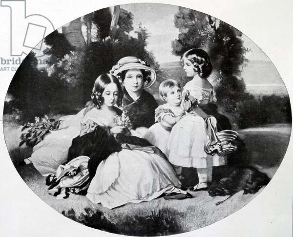 Four daughters of British Queen Victoria, 1854