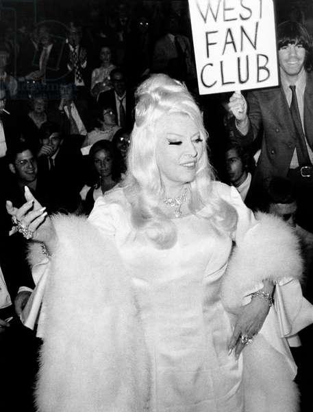 Mae West At Premiere (b/w photo)
