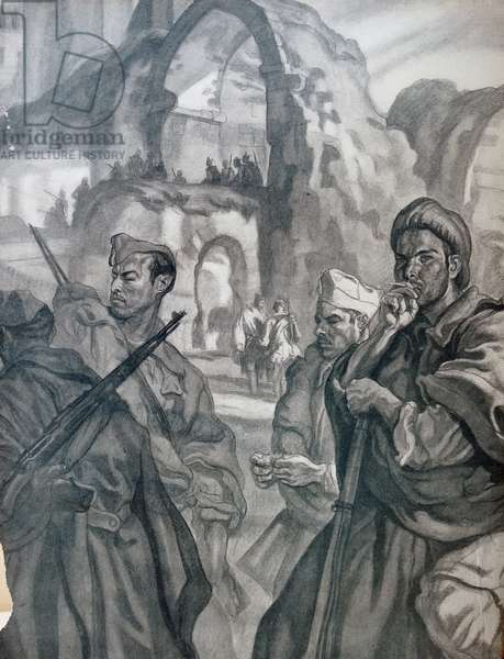 Illustration depicting Nationalist soldiers