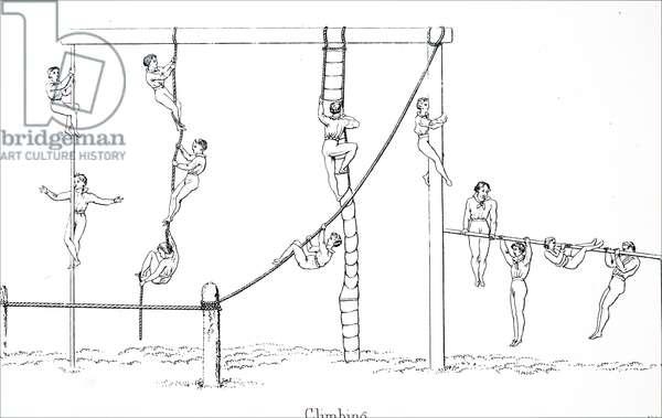 Boys doing gymnastics
