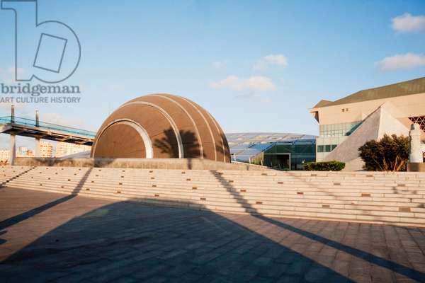Planetarium by the Bibliotheca Alexandrina, the Modern Library of Alexandria, Alexandria, Al Iskandar (photo)