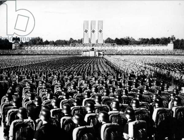 Nuremberg Nazi Rally (b/w photo)