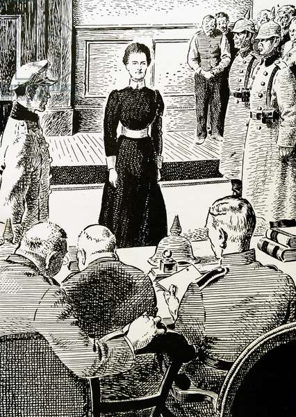 Edith Cavell faced her German accusers with dignity and courage.