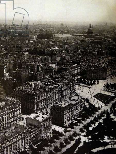 Photographic print of a view of Paris from the Eiffel Tower