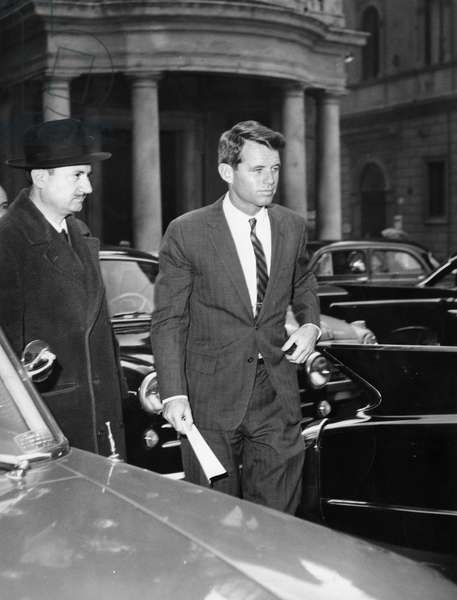 Robert Kennedy, Minister of Justice USA, a private visit to Rome. In 1966.