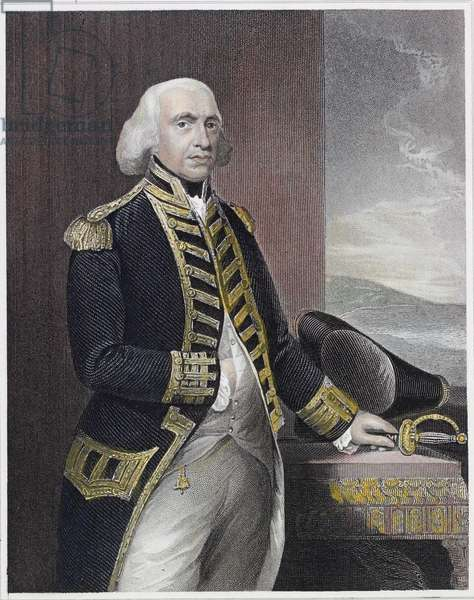 Richard First Earl Howe (coloured engraving)