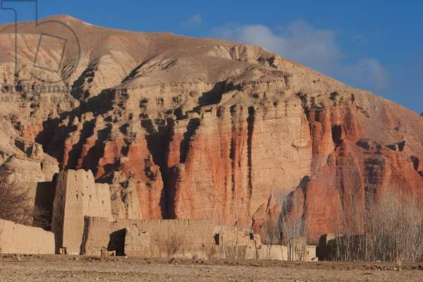 Mud Fort Near Sharh-E-Zohak (The Red City) at the Entrance to the Bamiyan Valley, Bamian Province, Afghanistan (photo)