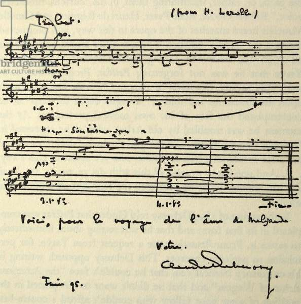 Latter to Lerolle written by Claude Debussy in August 1894
