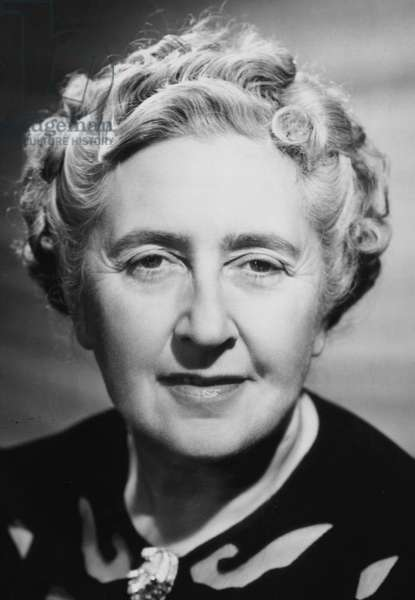 Dame Agatha Christie, English crime novelist, 1945