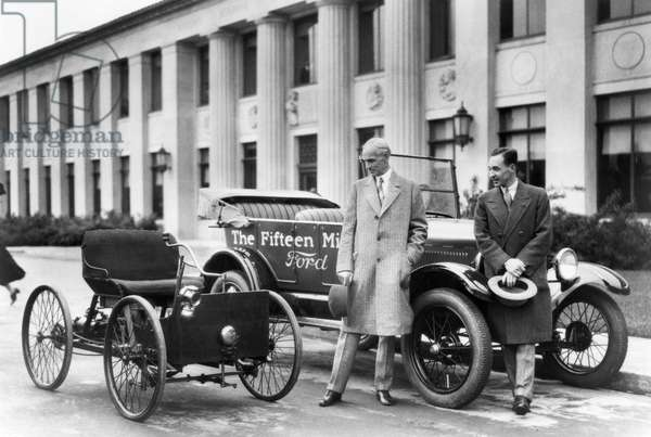 Henry And Edsel Ford, Detroit, Michigan, 1927 (b/w photo)