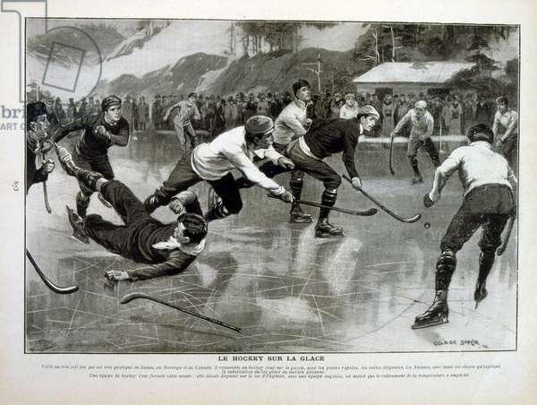 Ice hockey match in Switzerland between Norway and Canada