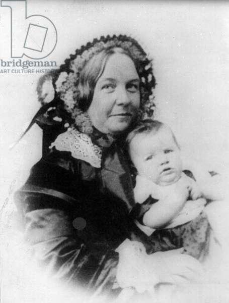 Elizabeth Cady Stanton and her daughter, Harriot