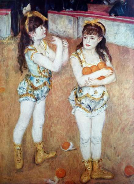 Two Little Circus Girls, 1850