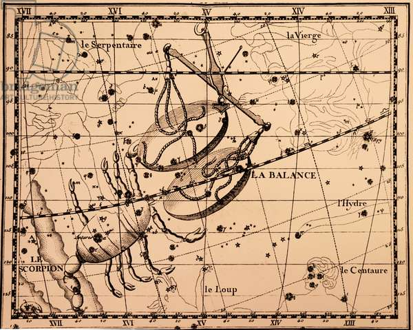 The constellations Scorpius and Libra.