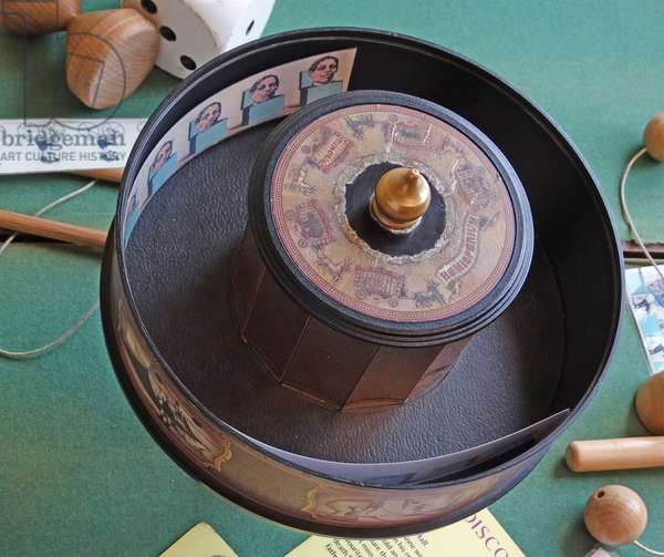A phenakistoscope