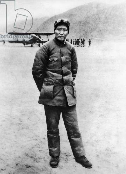 Chairman Mao in Northern Shensi in 1936.