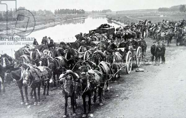 Belgian forces retreat during the early stages of world war one, 1914
